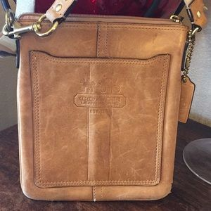 Coach Bags - Coach natural leather crossbody bag